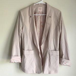 Blush pink button up blazer Sz XL